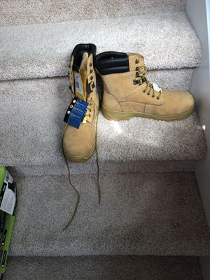 Steel toe New boots weather proof slip resistant water resistant size 13 and 14 available obo for Sale in Snohomish, WA