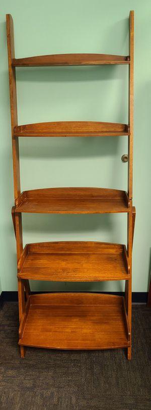 5 Shelf Ladder Bookshelf Free Standing Wooden for Sale in Cape Coral, FL