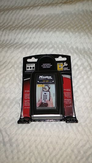 Master Lock portable push button lock box for Sale in Milwaukie, OR