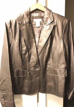 Worthington Bronze Slight Metallic Leather Jacket for Sale in Dallas, TX