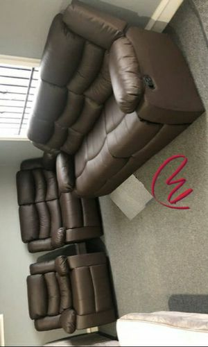 🚚3-6 days delivery🚚🦋Don't miss this Opportunity🦋Brownie Cocoa Short Plush Reclining Living Room Set   U8400 byGlobal for Sale in Jessup, MD