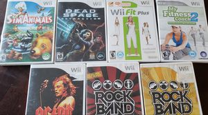 Wii games & Rockband tracks for Sale in Lacey, WA
