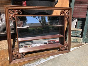 Antique Wooden Mirror/ Shelving Unit for Sale in Los Angeles, CA