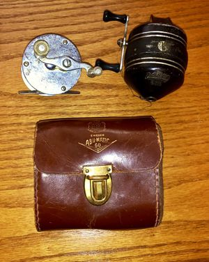 Vintage Fishing Reels with Abu-Matic 60 case for Sale for sale  Old Mill Creek, IL