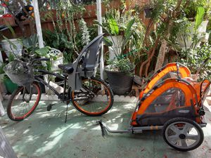 Bike and trailer for Sale in Fresno, CA