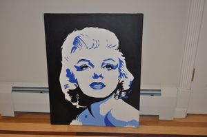 Marilyn Monroe Original Canvas Painting Signed La Valle for Sale in Middletown, NJ