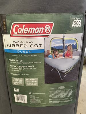 Coleman pack-away air bed cot (queen) for Sale in Chesterfield, MO