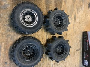 RC car truck tires and rims mounted 12mm Hex for Sale in Chula Vista, CA
