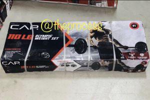 Brand New Cap 110lb Olympic Weight Set for Sale in San Bernardino, CA