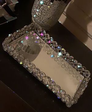 Mirrored Crystal Vanity Makeup Tray *ONLY for Sale in Norwalk, CA