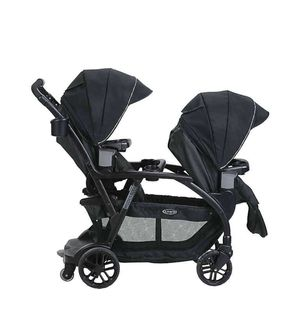 Graco Twin Stroller and 2 SnugRide SnugLock 35 DLX Infant Car Seats for Sale in San Clemente, CA