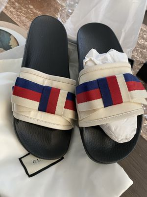 Gucci Pursuit Sylvie Slides Red White Blue for Sale in Redwood City, CA