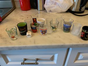 Shot glass collection & drinking dice for Sale in BEL TIBURON, CA