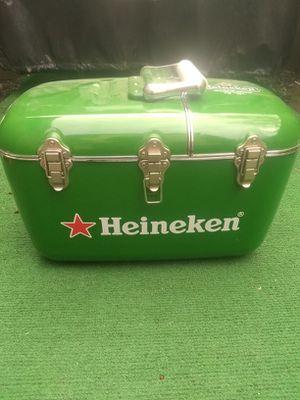 Heineken cooler with built radio for Sale in Upper Arlington, OH