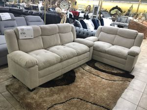 Sofa love seat take it home with $39 down for Sale in Dallas, TX