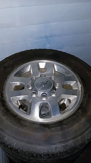 8 lug stock Chevy rims and tires for Sale in Tacoma, WA