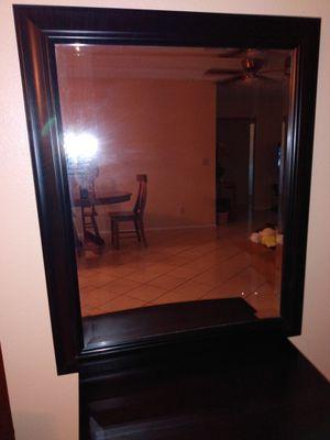 27 1/2 x 33 1/2 black trim mirror for Sale in Phoenix, AZ