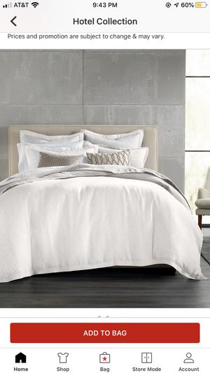 Hotel Collection Linen Duvet Cover Full/Queen for Sale in Fontana, CA