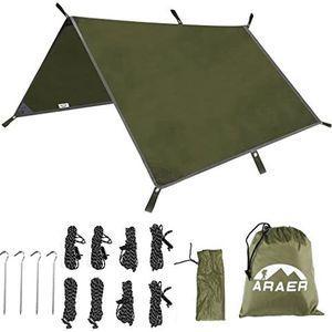 "ARAER Tent Tarp, Hammock Rain Fly, 114"" x 114""/9.5ft, 600g/1.32lbs, 2000PU Waterproof, Windproof, UV 50+ Sunshade, for Sale in Strongsville, OH"