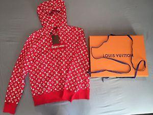 SUPREME- X -LOUIS VUITTON- MONOGRAM -BOX LOGO PULLOVER HOODIE for Sale in Dallas, TX