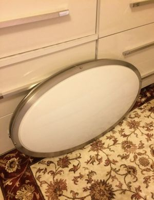 Large oval light fixture for Sale in Purcellville, VA