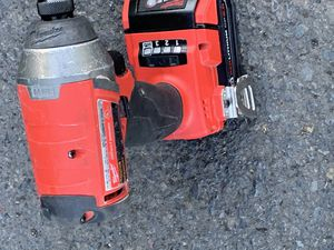 Milwaukie 18v impact drill with two battery for Sale in Portland, OR