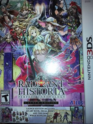 Radiant Historia Perfect Chronology Launch Addition for the Nintendo 3DS for Sale in Houston, TX