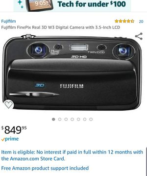 Fujifilm FinePix Real 3D W3 Digital Camera with 3.5-Inch LCD for Sale in Sterling, VA