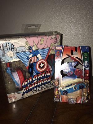 Captain America Headphones & Hot Wheel car for Sale in Tigard, OR
