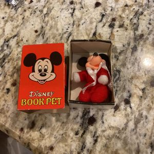 Disney Book Pet . Small Mickey Mouse Doll Inside. Goof Condition for Sale in Gurnee, IL
