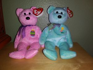 Easter Beanie Baby Bears 'Ariel' and 'Eggs' for Sale in Tacoma, WA