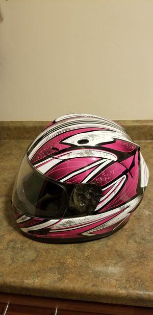 Raider Full Face Medium Helmet DOT ATV UTV Motorcycle Bike Snowmobile Pink/White/Black color. for Sale in Little Suamico, WI