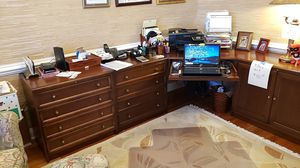 DESK 4 piece corner 4 file drawers for Sale in Leesburg, VA