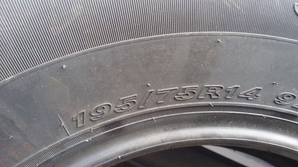 Sceptor 4xs tires brand new 195 75 R14 only one