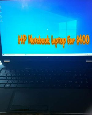 Hp notebook laptop for Sale in Martinsburg, WV