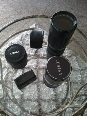 Lentar and Minolta Camera lens for Sale in Modesto, CA