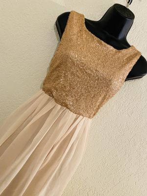 MEZZANINE, Gold & Beige Sleeveless Dress, Size M for Sale in Phoenix, AZ