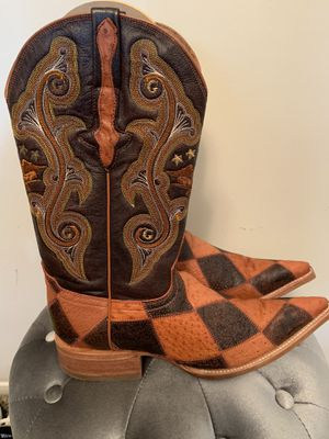 New! El General Ostrich skin and leather boots for Sale in Stone Mountain, GA