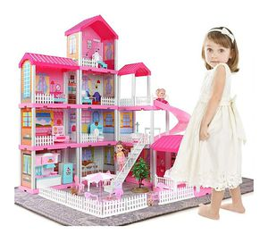 Temi Dollhouse Dreamhouse Toys Figure w/ Furniture, Accessories, Movable Slides, Pets and Dolls, Pretend Play Doll House (11 Rooms) for Sale in Rancho Cucamonga, CA