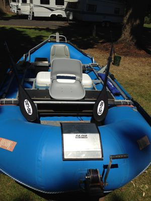 14 ft Hyside Fishing Raft and Trailer for Sale in Portland, OR