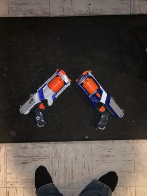 PAIR of NERF Gun Strongarm Pistol Revolver for Sale in Dover, MA