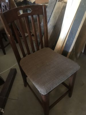 Two tall kitchen chairs for Sale in Pine River, MN