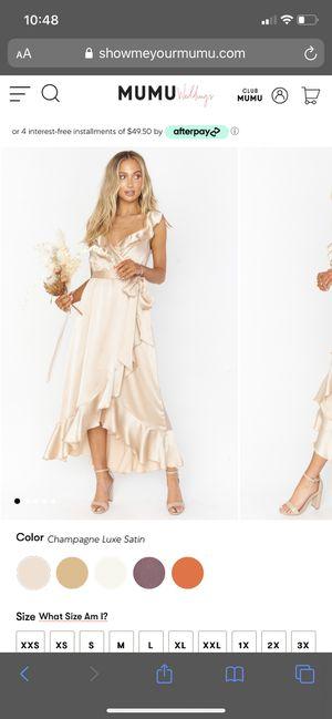 Show me your Mumu Samantha wedding dress for Sale in Anaheim, CA