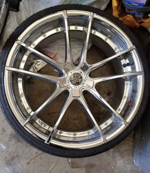 """""""20"""" inch chrome rims with four tires for Sale in Washington, DC"""