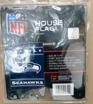 SEATTLE SEAHAWKS HOUSE FLAG for Sale in St. Petersburg, FL