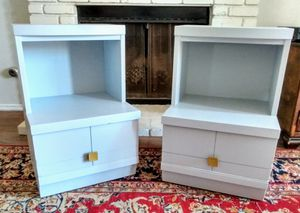 Pair of Gray Petite Mid Century Nightstands End Tables for Sale in Murrieta, CA