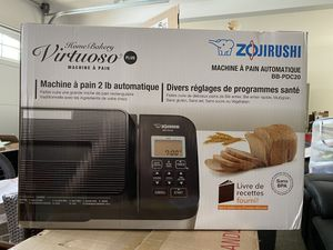 Zojirushi Home Bakery Virtuoso Plus Breadmaker, 2 lb. loaf of bread for Sale in Huntington Beach, CA