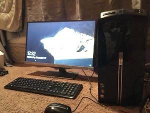 Gateway Desktop DX4300-22 + Printer + Speakers + AOC Monitor for Sale in Portland, OR