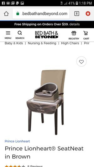 Prince Lionheart® SeatNeat in Brown Baby booster seat. Feeding chair for Sale in Snohomish, WA