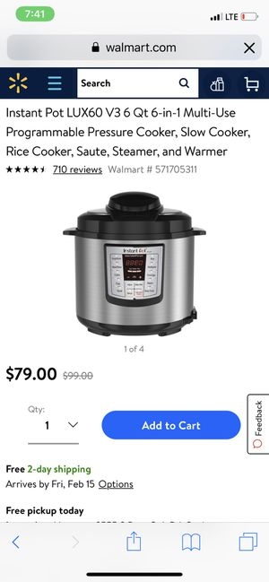 Instant Pot Lux 6qt brand new in box for Sale in Houston, TX